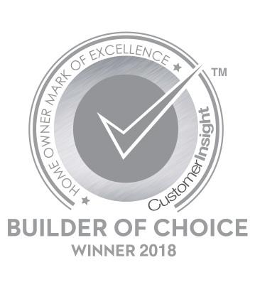 2017 and 2018 Customer Insight H.O.M.E. Builder of Choice Award