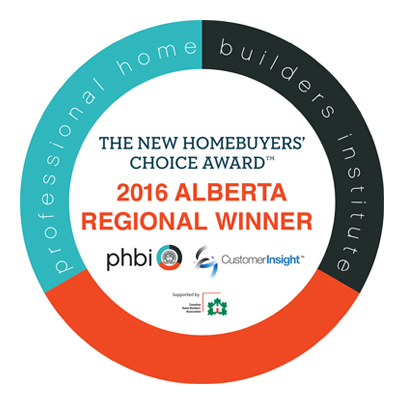 2016 New Homebuyers' Choice Awards
