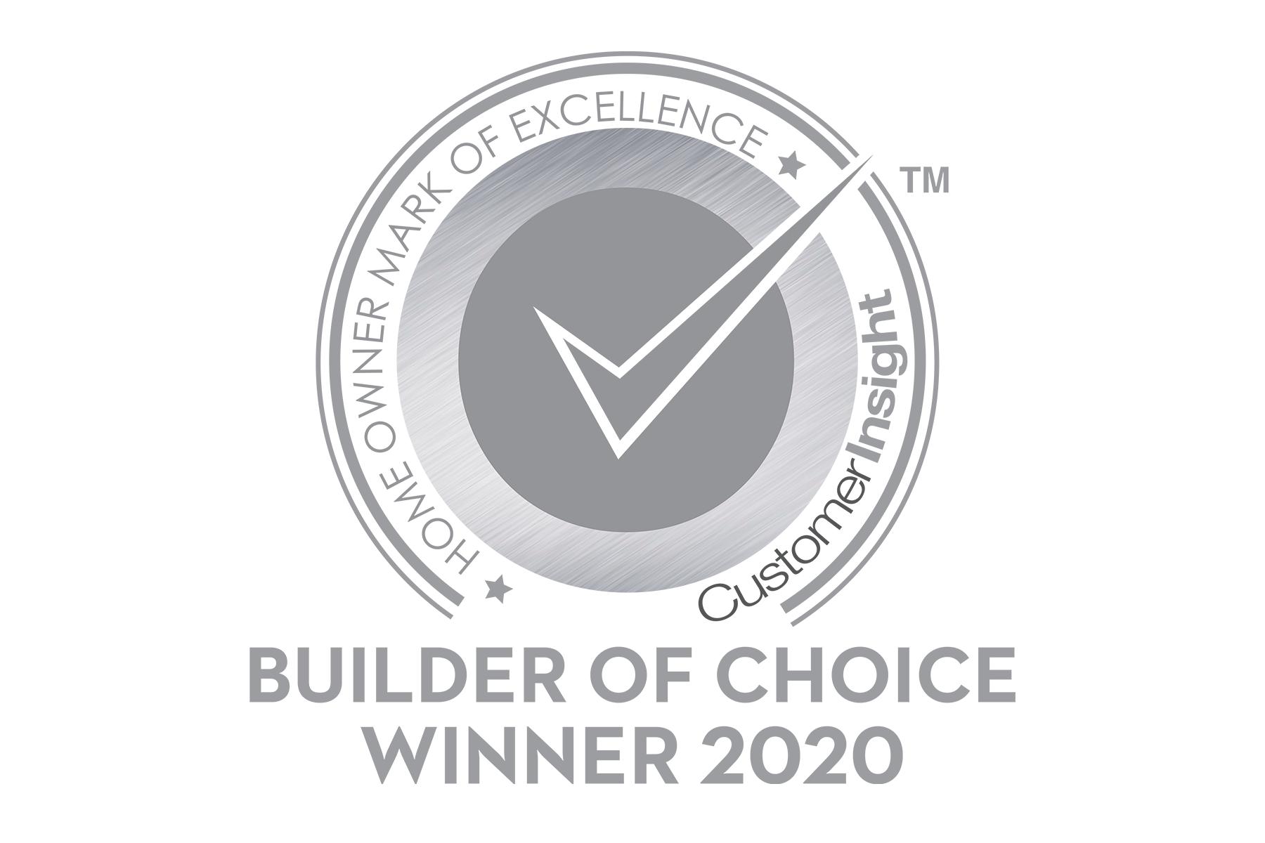 2020 Customer Insight H.O.M.E. Builder of Choice Winner
