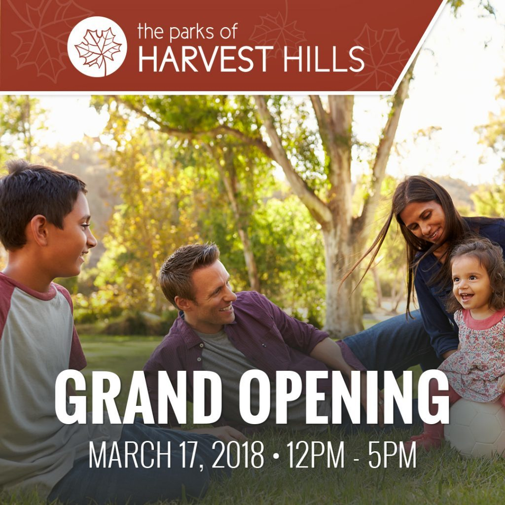 Grand Opening Event in The Parks of Harvest Hills