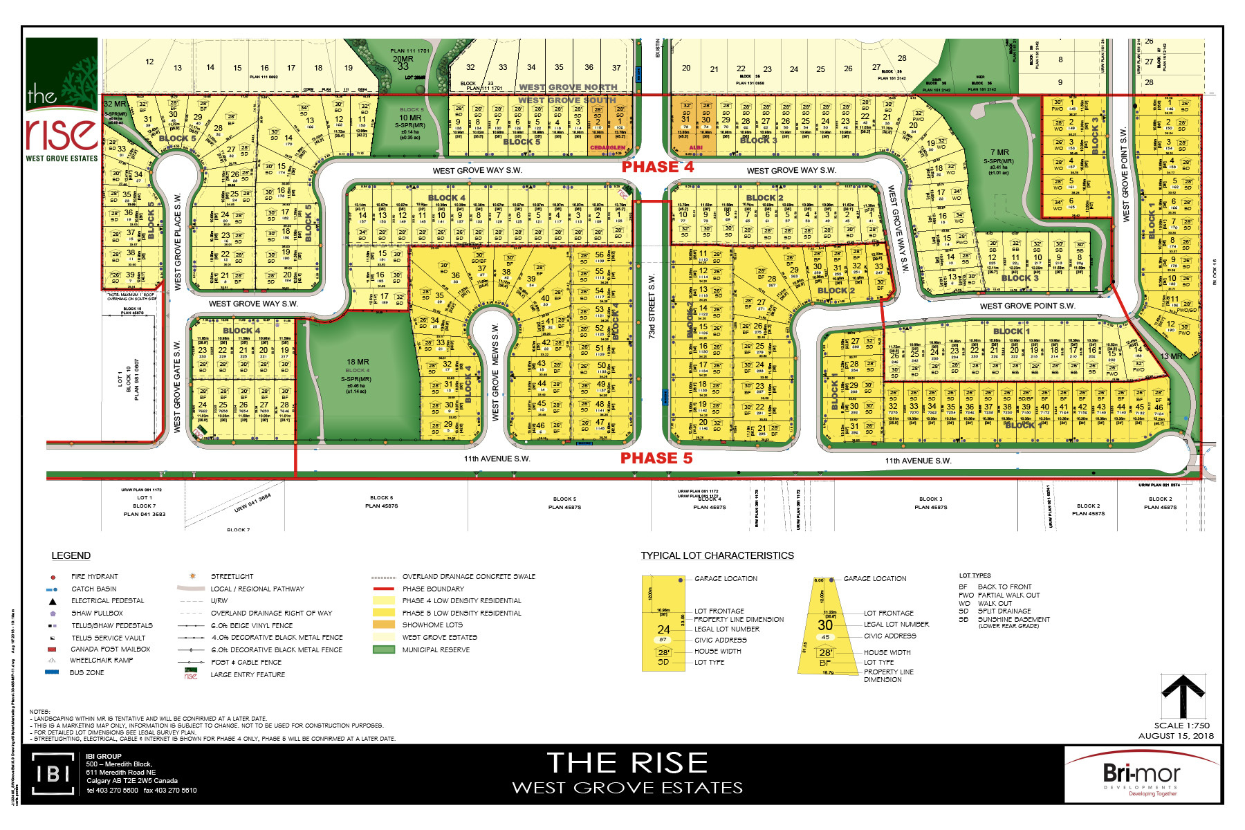 The Rise West Grove Phase Map